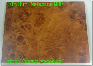 Elm Burl - Color and Grain of Melamine MDF