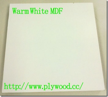 Warm White - Color and Grain of Melamine MDF