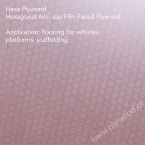 Hexagonal Anti-slip Film Faced Plywood (New Pattern)